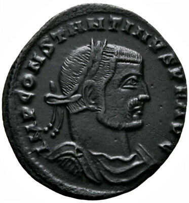 CONSTANTINE THE GREAT (313 AD) AE Follis. Siscia #MA 2661