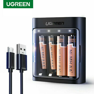 Ugreen Battery Charger 5V Micro USB Cable for NiMH NiCD Smart AAA AA Batteries