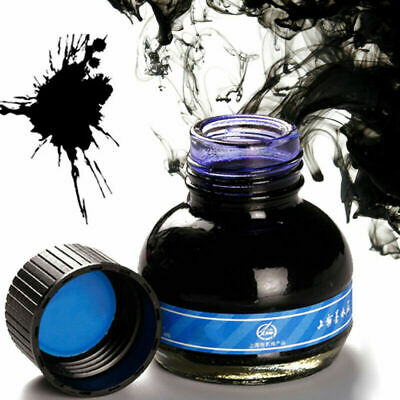 60ml Blue Carbon Fountain Pen Ink Writing Ink Refill Glass Bottle S0B7