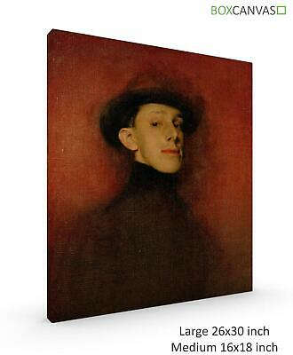 Ramon Casas Study From Life For Portrait Of King Canvas Picture Wall Art