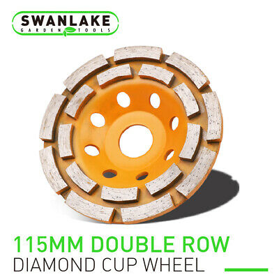 "4.5"" Diamond Grinding Cup Wheel Double Row Concrete Angle Grinder 18 segments"