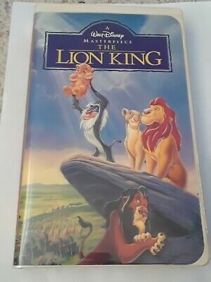 THE LION KING Walt Disney Masterpiece Collection Clamshell VHS Home Video EUC