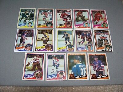 1984-85 Topps NHL Hockey Card Lot (Lot of 14 Different) - Andreychuk Rookie Card