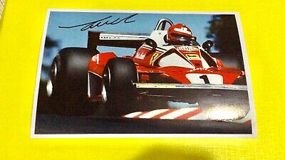 Autografo Niki Lauda Hand Signed Foto World Champion Formula One F1