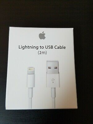 Apple Lightning USB Charger 2m Cable Genuine Original OEM iPhone 5s 6 7 8 X plus