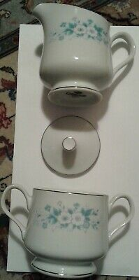Carlton China Pattern Carla # 506 Sugar Bowl with Lid and Creamer