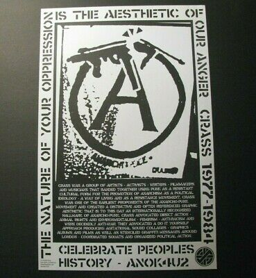 *Crass Original *Nature Of Our Oppression* Offset Poster – Anarcho-Punk*