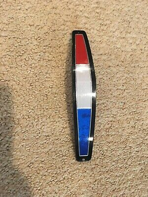 1965 Plymouth Satellite Red White Blue Grille Plastic Medallion #2584535 Nos