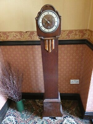 Vintage Art Deco Granddaughter Clock, H 1520 W 315 D 205