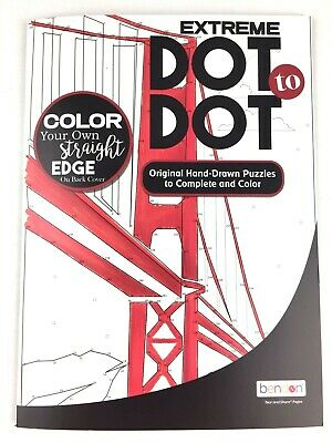 Extreme Dot to Dot Original Hand Drawn Puzzles Golden Gate Adult Activity Book