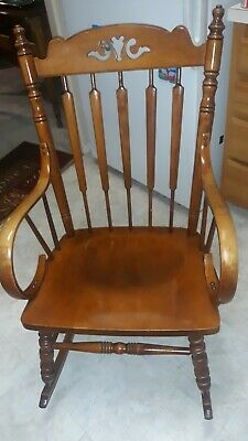 Tell City Chair Co. Andover Maple Rocker Rocking Chair #638 ... made in the USA