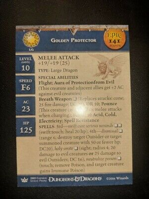 Golden Protector Dungeons and Dragons 005 War of the Dragon Queen Miniature DDM