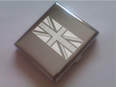 Cigarette cases engraved with flags (EEUU, Canada, UK...)