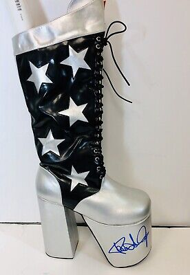 Kiss Paul Stanley Signed Boot official merchandise never worn Size Small