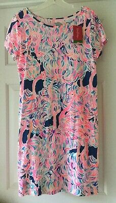 642a1d6342afff NWT Lilly Pulitzer Short Sleeve Marlowe Dress in Pelican Head In The Sand  Size M