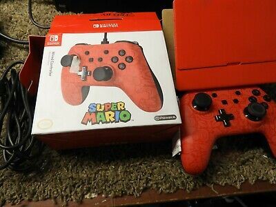 PowerA Super Mario Wired Controller for Nintendo Switch Red 19403