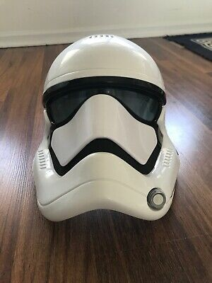 Star Wars The Force Awakens Storm trooper Helmet with voice changer.