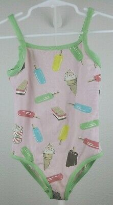 Girls, Mini Boden Size 5-6Y Colorful Popcycles Icecream One Piece Bathing Suit