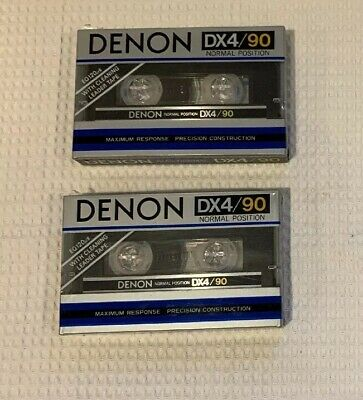 Lot Of 4 DENON DX4/90 Minute Type I Normal Bias Tapes.