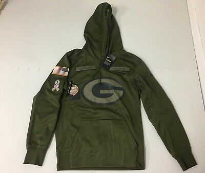aba7814a6276a1 Nike Green Bay Packers 2018 Salute to Service Hoodie 944236 395 Small NWT