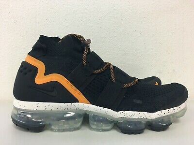 Nike Air Vapormax Flyknit Utility Black Orange Peel AH6834 008 Mens Size 10.5