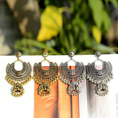 Fashion Women Jewelry Bohemia Indian Charm Gold&Silver Pendant Retro Earrings