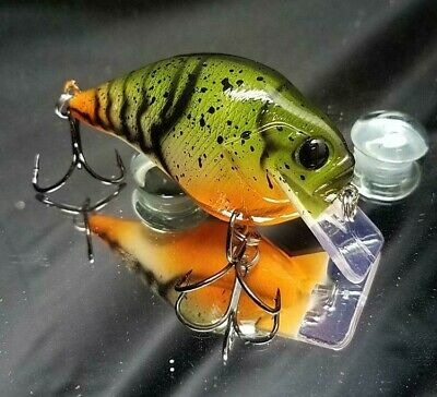 Custom painted S crank KO crank bait fishing bass pike minnow shad trout craw