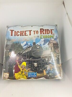 New Ticket To Ride Europe-Days of Wonder Strategy Board Game