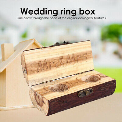 a9744a14c9 CUSTOM RING BOX Personalized Wedding Valentines Engagement Wooden ...