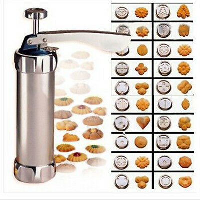 BO 20PCs Moulds Biscuit Making Maker Cake Cutter Decor Cookie Pump Press Machine