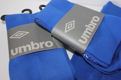 3 pr. Men's UMBRO Soccer Socks Royal Blue Player sports socks size 10-13 Lot NIP