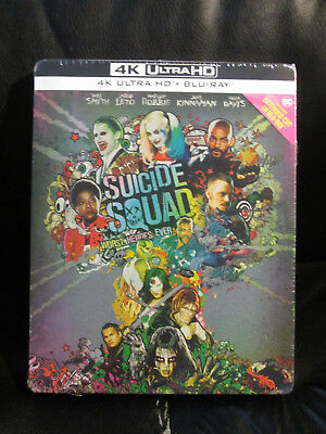 Suicide Squad 4K UHD + Blu-Ray Steelbook [Italy] Mint New DC Alternate Artwork
