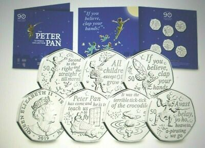 Peter Pan Great Ormond Street Hospital Special Edition 50p Six Coin Set.