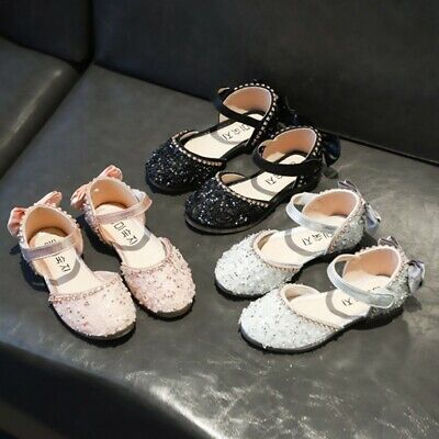 Children Infant Kids Baby Girls Bowknot Crystal Princess Sandals Casual Shoes US
