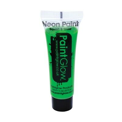 Uv Face & Body Paint - Neon Glow 10ml Party Make Up Paintglow Green Festival