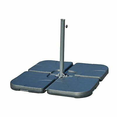 Outsunny 4pc Cantilever Parasol Umberella Base Cross Stand 15L Each PC