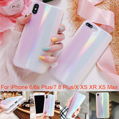 Freshness radient Laser Aurora Soft Glossy Case For iPhone X XS MAX 6s 7/8 Plus