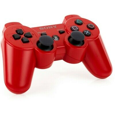 nuovo Controller ORIGINALE Sony Playstation 3 Dualshock Wireless PS3 Rosso Bulk