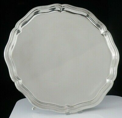 English Silver Salver by William Hutton & Sons Ltd, Sheffield 1921