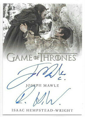 Isaac Hempstead-Wright Joseph Mawle 2019 Game of Thrones Inflexions Auto Dual