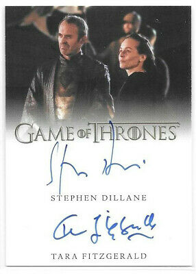 Tara Fitzgerald Stephen Dillane 2019 Game of Thrones Inflexions Auto Dual