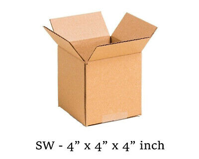 """50 MOVING BOX Single Wall Cardboard 4x4x4"""" in NEW Removal Packing Shipping"""