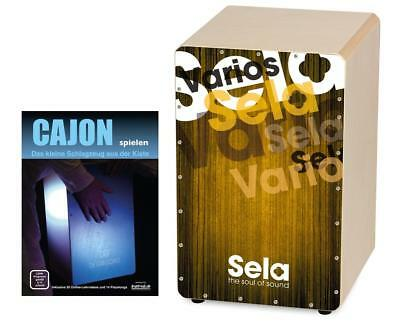 Sela Cajon Drum Handpercussion Trommelkiste Percussion Trommel Set Schule Gold