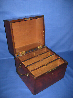 Antique George III Rich Mahogany Colour Deep Lid Box
