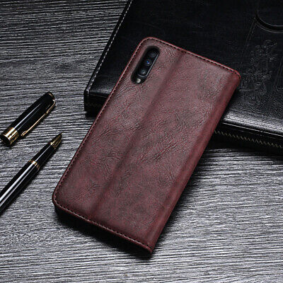 For Samsung Galaxy A70 Flip Leather Wallet Shockproof Holder Phone Case Cover