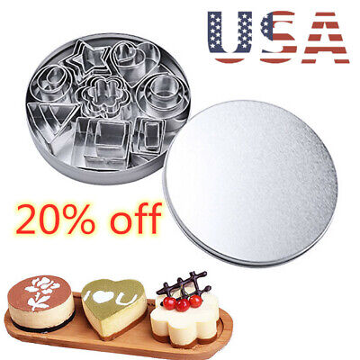 24 PCS Stainless Steel Biscuit Pastry Cookie Cutter Cake Decor Baking Mold Mould