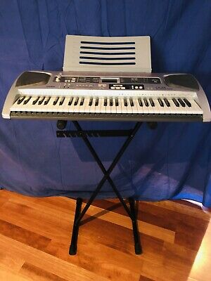CASIO LK-55 Key Lighting System Keyboard with Stand, Adaptor with Bonus books