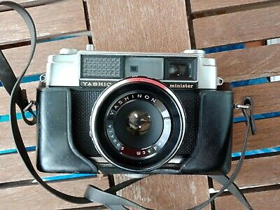 Vintage Yashica Minister 35Mm Camera With 45Mm Yashinon Lens