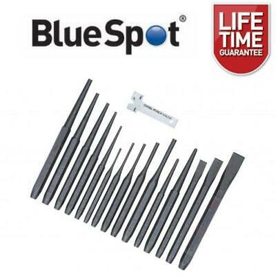 BlueSpot 16pc Punch & Chisel Set Cold Chisels Center Punch PIN Punch Taper Punch