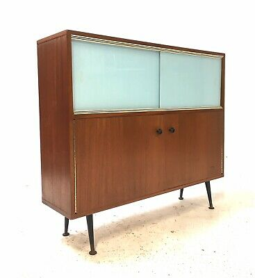 Vintage Retro Mid Century Danish Era 1960s Slide Door Sideboard Room Divider